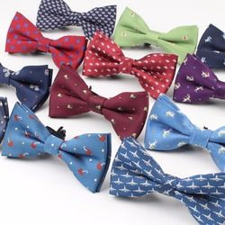 New Style Plaid Children Bowtie Polester Bowties Baby Kid Kids Classical Pet Striped Butterfly Bow tie Elk Bike Umbrella Dog Car