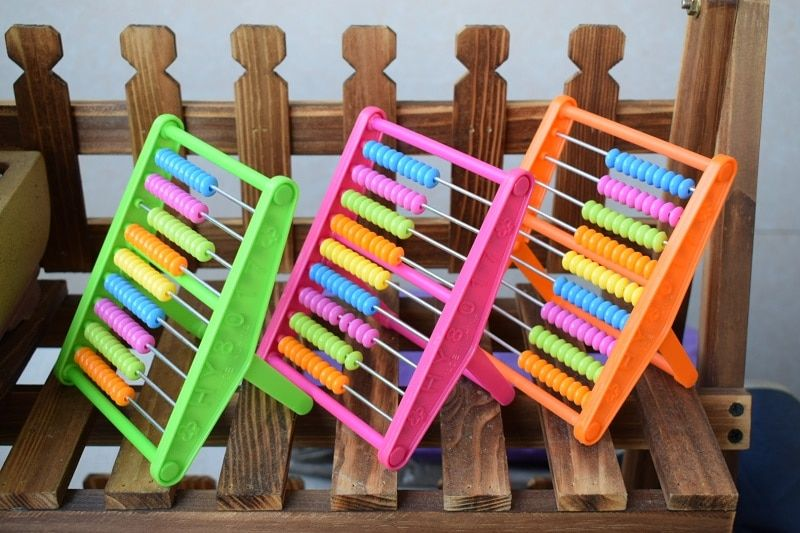 9 Rods Abacus Soroban Kids Maths toys Calculating Tool Math toys Chinesse abacus soroban educational toys for children 3 styles