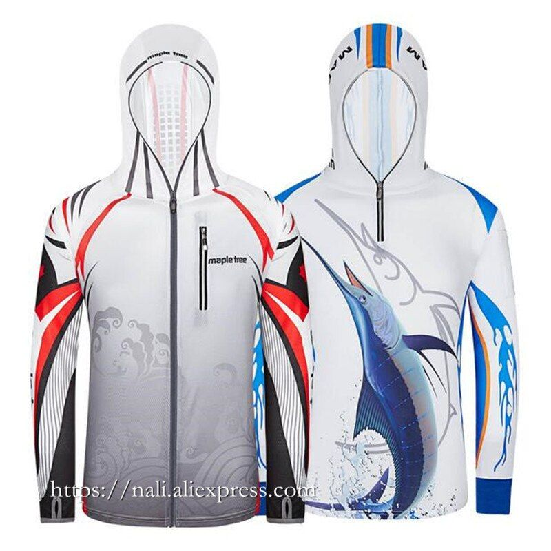 NEW 2018 Summer style Brand Men Professional Clothes Fishing Anti UV Anti mosquit Breathable Quick-drying hoodie Fishing Shirt