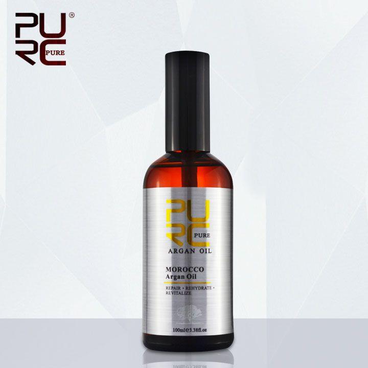 PURC Marocain huile d'argan 100 ml pour Réparations Dommages Aux Cheveux Cheveux De L'humidité Nutrition pour après traitement kératine Cheveux huile de soin