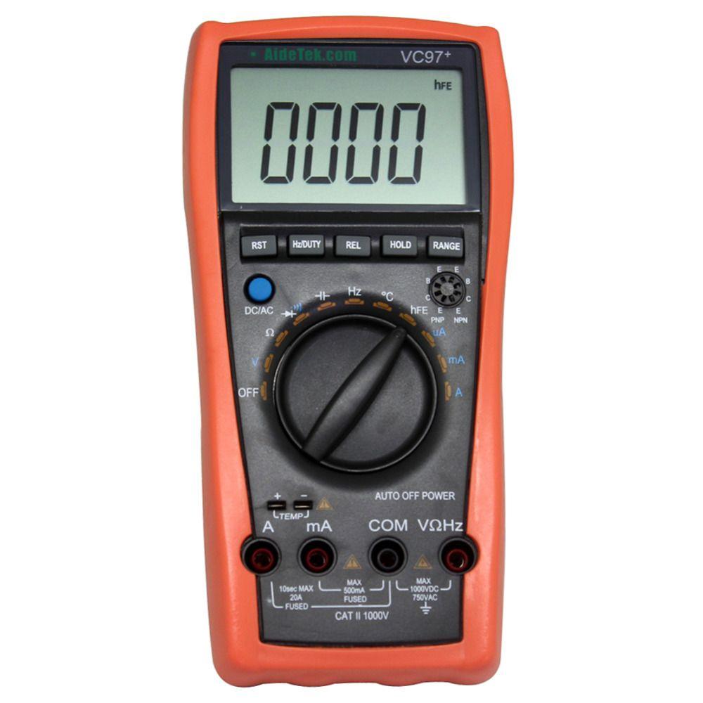 AideTek VC97 + gamme automatique DMM AC voltmètre DC résistance à la capacité multimètre numérique VS