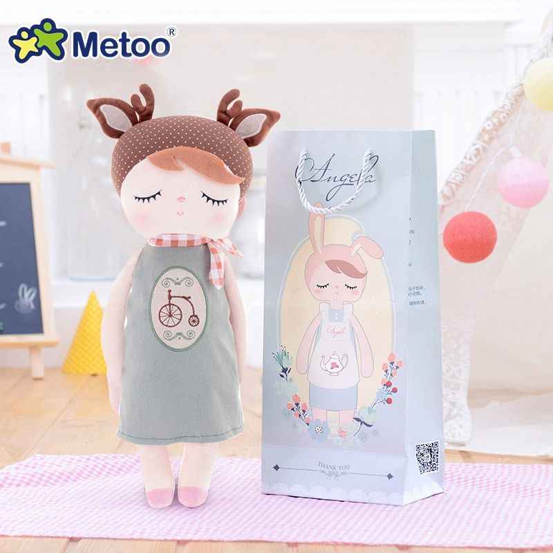 13 Inch Accompany Sleep Retro Angela Rabbit Plush Stuffed Animal Kids Toys for Girls Children <font><b>Birthday</b></font> Christmas Gift Metoo Doll