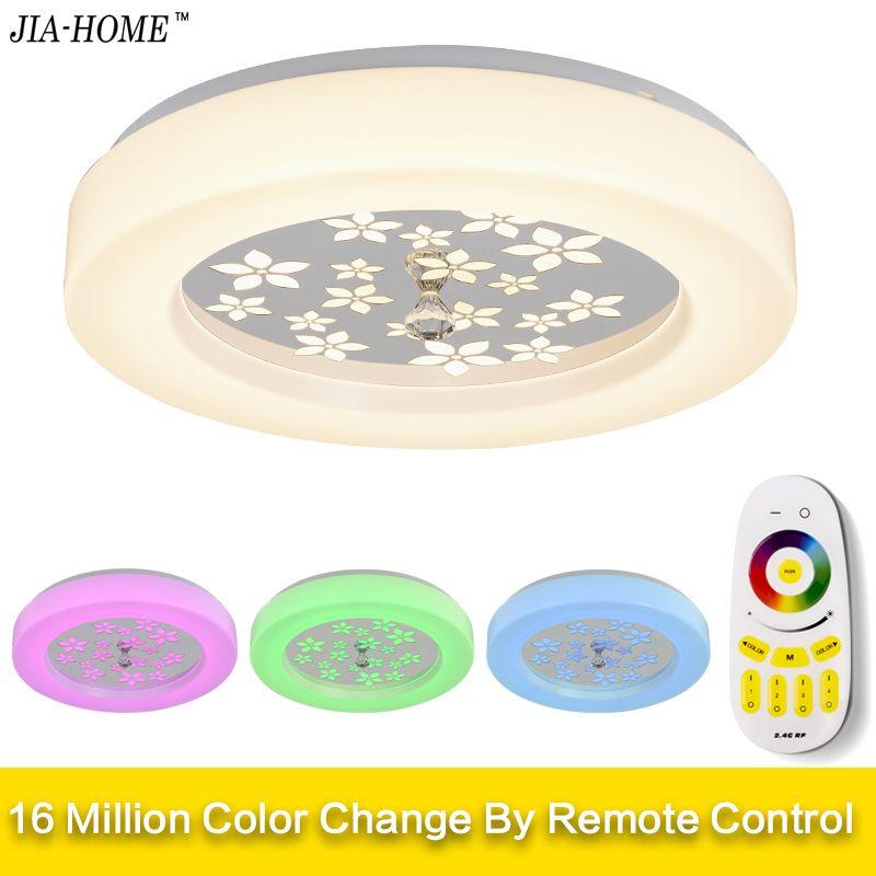 LED Decke Lichter Lampe Luminaria Decke Licht Mit Fernbedienung Dimmbare Farbe Und RGB Ändern Leuchten Glanz Plafonnier