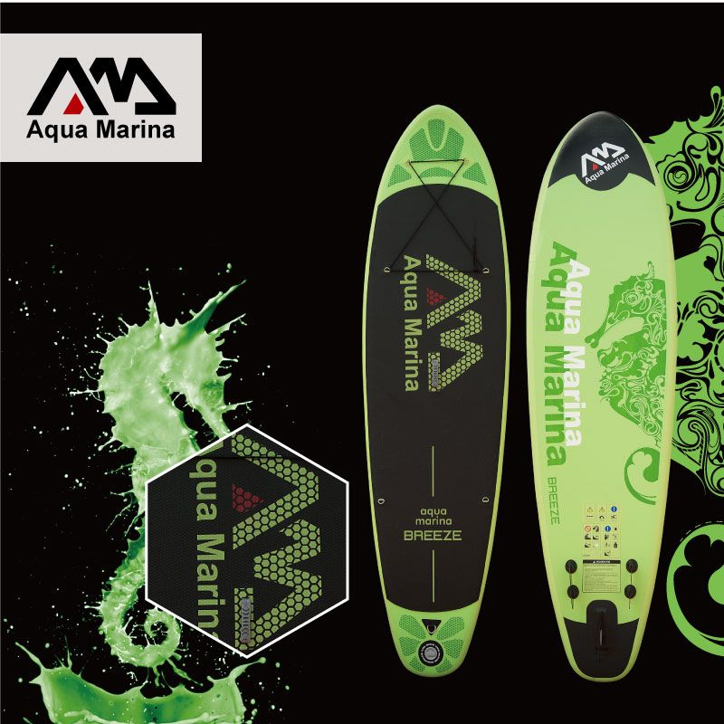 surfboard 300*75*10cm AQUA MARINA BREEZE inflatable SUP stand up paddle board fishing kayak inflatable boat leg leash A01007