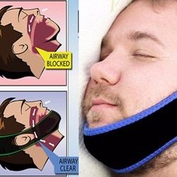 Stop Snoring Belt Anti Snore Chin Strap Care Sleep Stop Snoring Belt Chin Jaw Supporter Apnea Belt For Men Sleeping Products