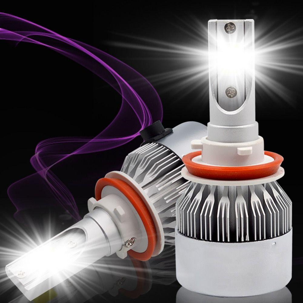 H7 H1 LED H4 H8 H9 H11 9005/HB3 9006/HB4 led headlight kit 72W COB Car Headlight Bulbs 8000LM 6000K Fog Light Bulb DC 12v 24v