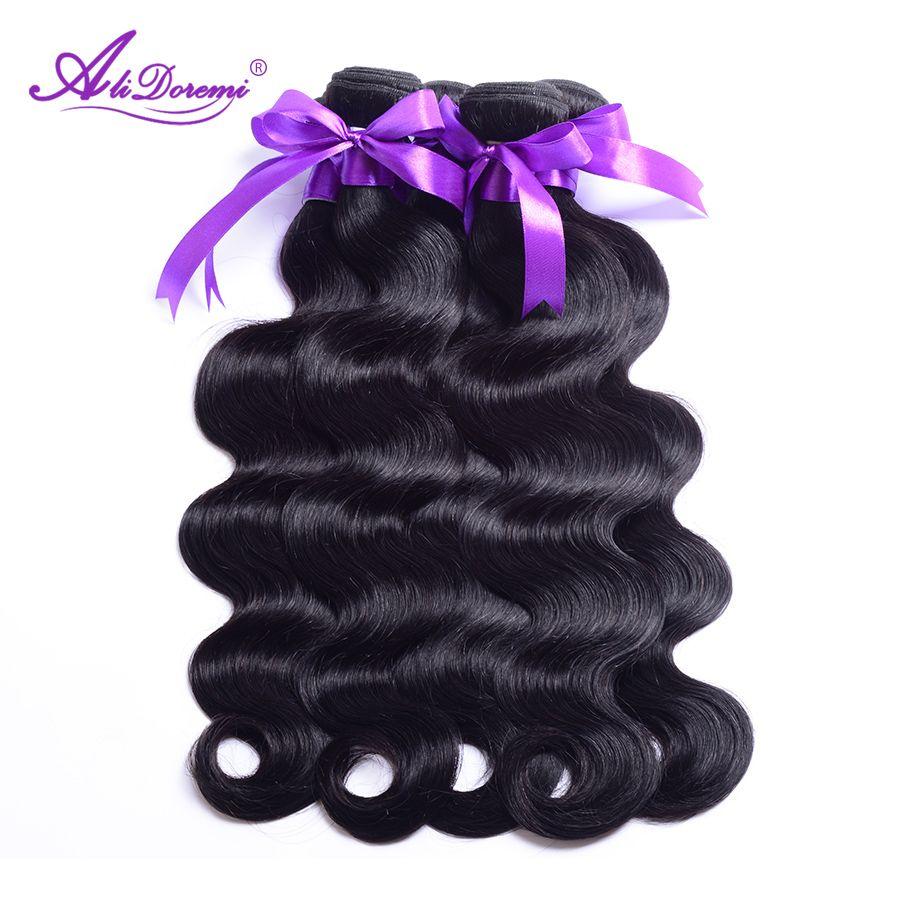 Brazilian Body Wave Hair Bundles 100% Human Hair Weave Natural Color Alidoremi Non Remy Hair 1 Piece 8-28 Inch Free Shipping