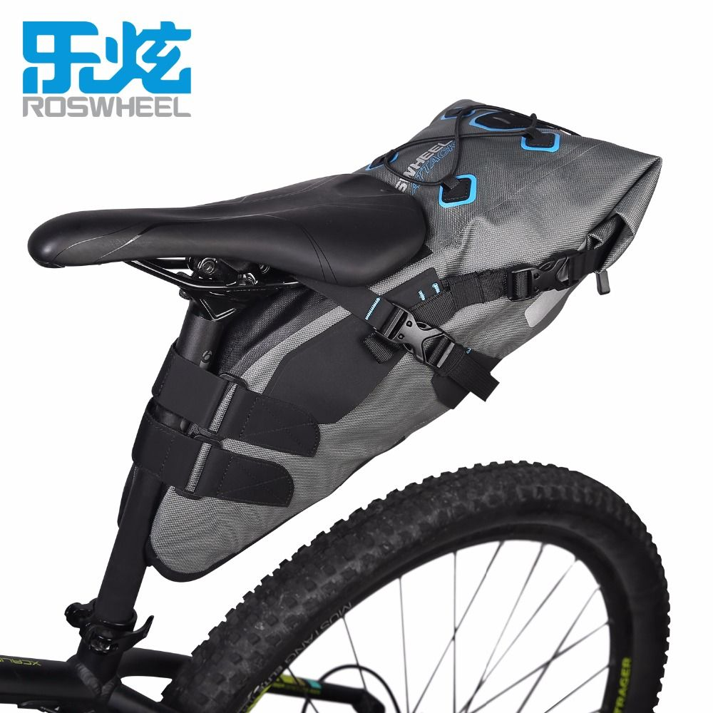 Roswheel Attack Series 131457 7L 100% Waterproof Cycling Bicycle Bags Bike Tail Saddle Bags Seat Packs Storage Pouch Carrier