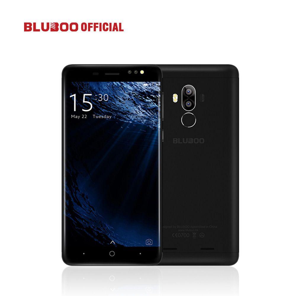 BLUBOO D1 5.0'' 3G Smartphone HD 8MP Dual Back Camera MTK6580 Quad Core 2G RAM 16G ROM Android 7.0 Nougat 2600mAh Mobile Phone