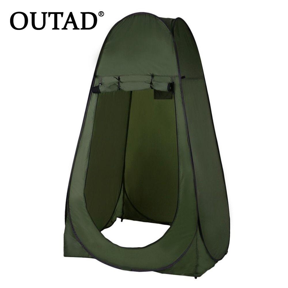 OUTAD Tragbare Outdoor-pop-up-zelt Camping Dusche Bad Privatsphäre Wc Umkleideraum Shelter Einzigen Moving Faltzelte