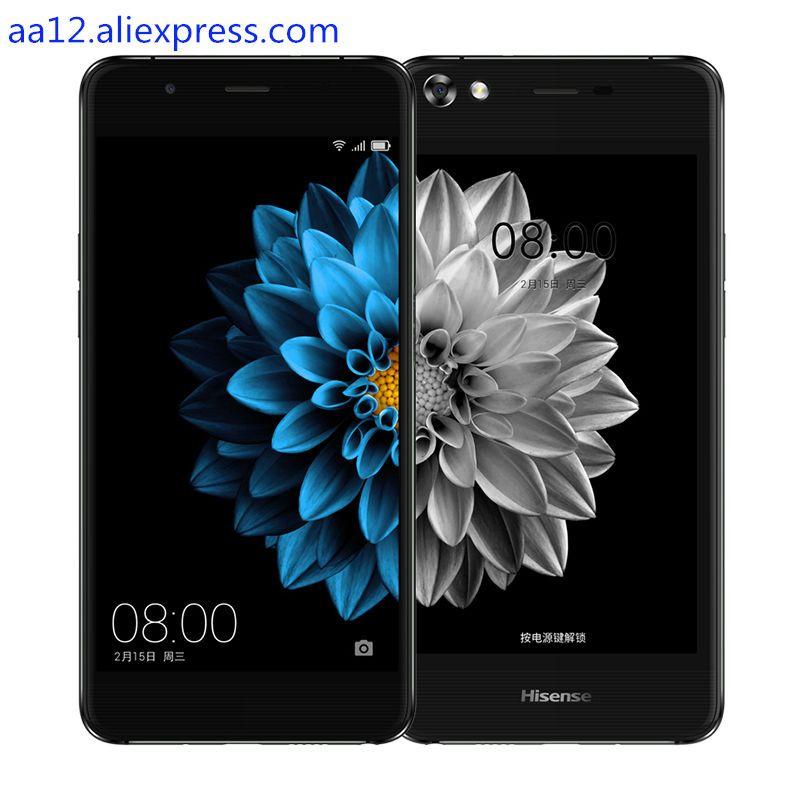 Hisense A2 doble pantalla de teléfono móvil FDD LTE 4G 5.5 4G RAM 64G ROM de Doble cara curva 2.5D Corning huella digital 5.2 pantalla de tinta