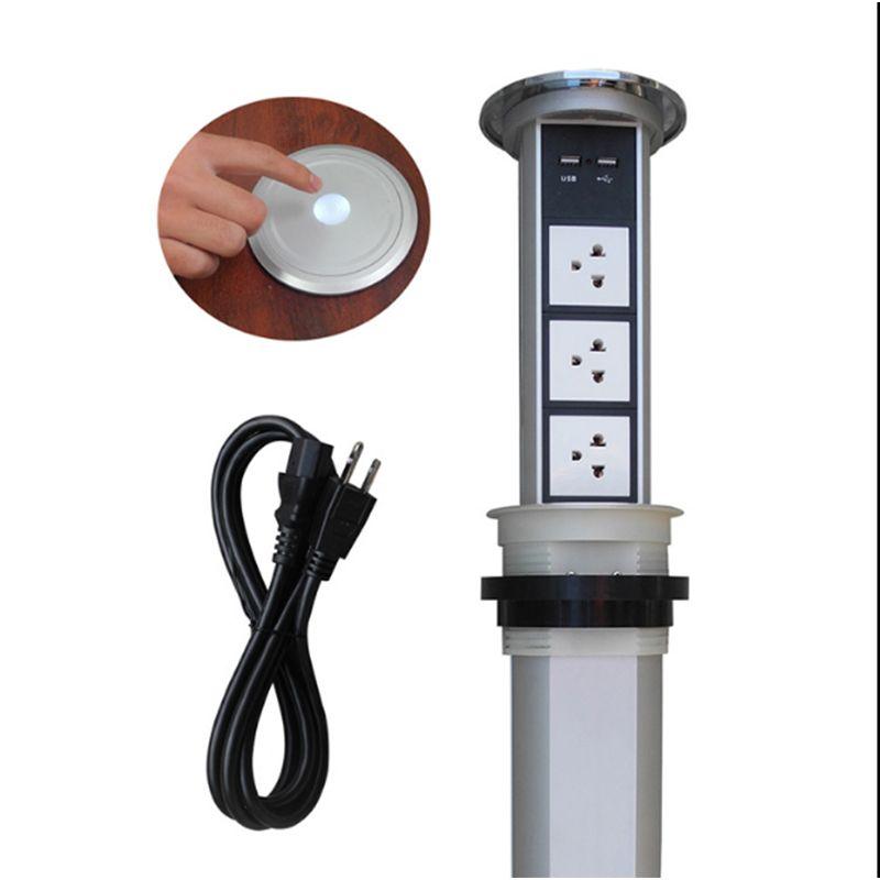 Touch screen/automatische elektrische lift buchse küche versteckte buchse smart multifunktionale USB lade desktop buchse TD-01