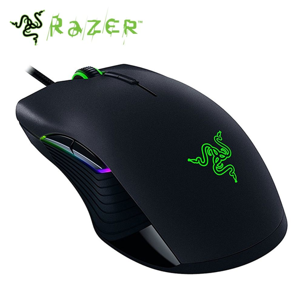Original Edition Wired Gaming Mouse 16000 DPI 5G Optical Sensor Left and Right Both Hand Gaming Mouse Razer Lancehead Tournamen