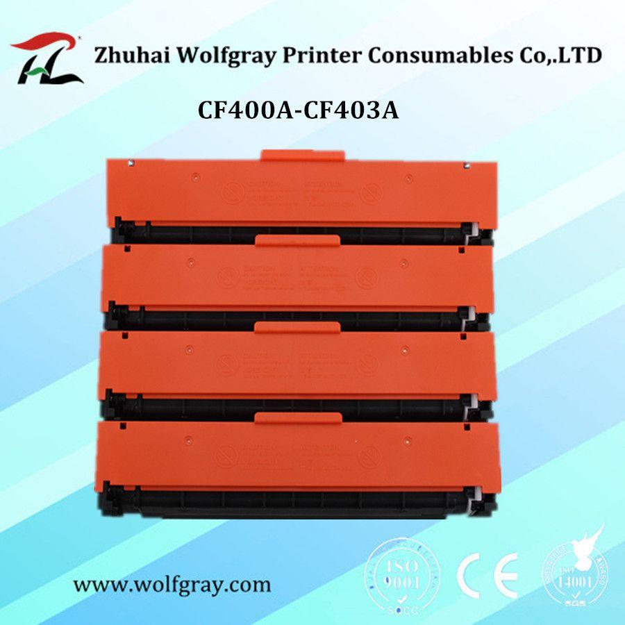 YI LE CAI Compatible cartouche de toner CF400 400A CF400A CF401A CF201A 201A pour HP couleur Laserjet Pro M252dw/M252nMFP/M277dw/M277n