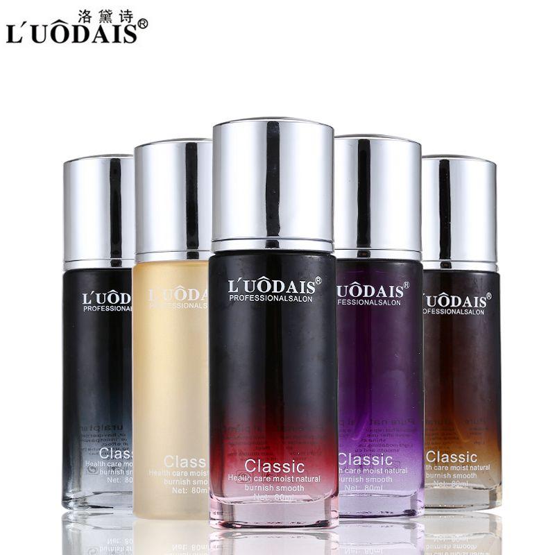 Ensembles de soins capillaires LUODAIS 80 ml parfum huile capillaire huile d'argan Hidratante Para Cabelo pour la réparation sèche des cheveux endommagés rendre lisse brillant