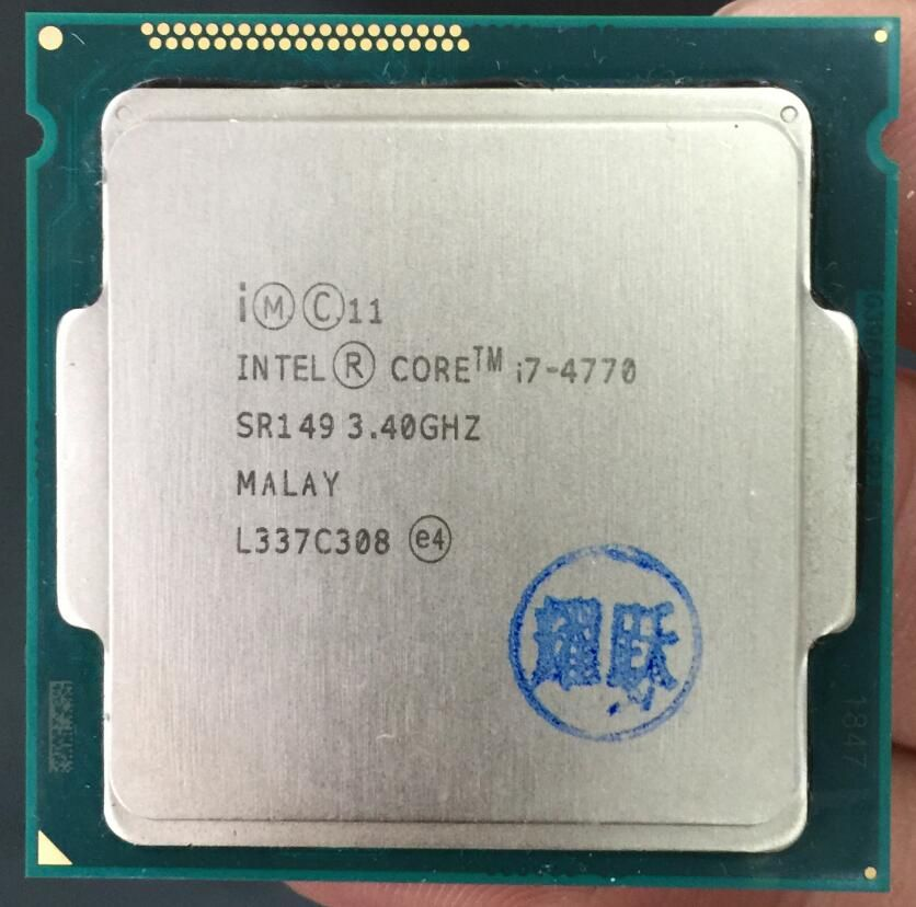 PC computer Intel Core Prozessor I7 4770 I7-4770 CPU LGA 1150 Quad-Core cpu 100% arbeits richtig Desktop Prozessor