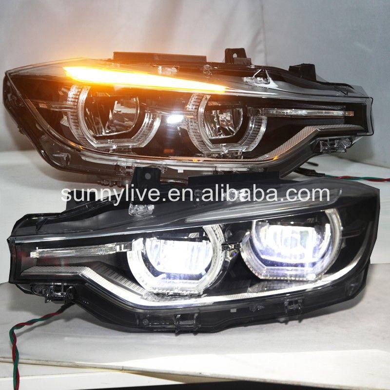 Für BMW F30 F35 318 320 325 328 330 335 LED Angel Eyes Scheinwerfer montage CN