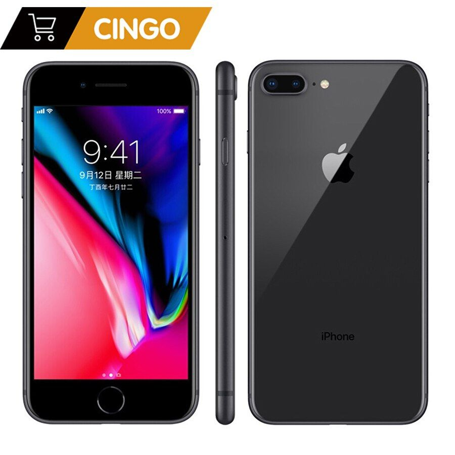 Entsperrt Apple Iphone 8 plus 2675 mAh 3 GB RAM 64G/256G ROM 12,0 MP Fingerprint iOS 11 4G LTE smartphone 1080 P 5,5 zoll bildschirm