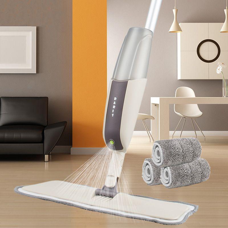 Magique Spray vadrouille plancher en bois avec tampons en microfibre réutilisables 360 degrés poignée maison fenêtres cuisine vadrouille balai balai outils propres