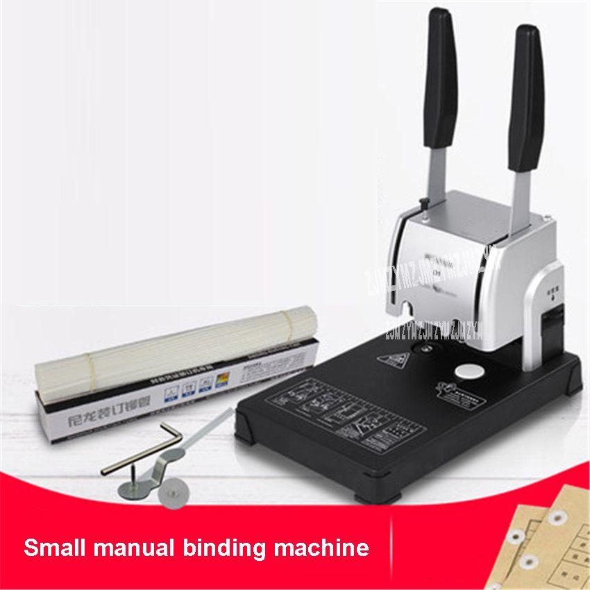 220V D1 Documents binding machine binder Hot-melt nylon hose with riveting tube Small Manual punching Bookbinding Machine 30MM