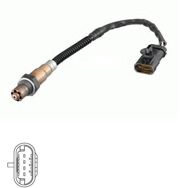 China supplier FOR RENAULT PEUGEOT CITROEN 0258006046 7700107433 oxygen sensor