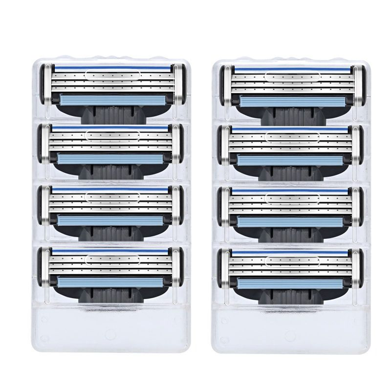 Turbo! 8pcs/lot High quality Razor Blades,Compatible for Gillettee Mache 3 Machine Shaving Razor Blade for Men Face Care