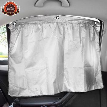 Voiture-style 2 pcs Simple sucker Voiture Rideaux Double Fenêtre Soleil Ombre enfants solaire parasol de voiture-couvre livraison gratuite