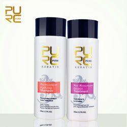 PURC défrisage De Réparation et redresser les cheveux des dommages produits Brésiliens kératine traitement + purification shampooing PUR 11.11
