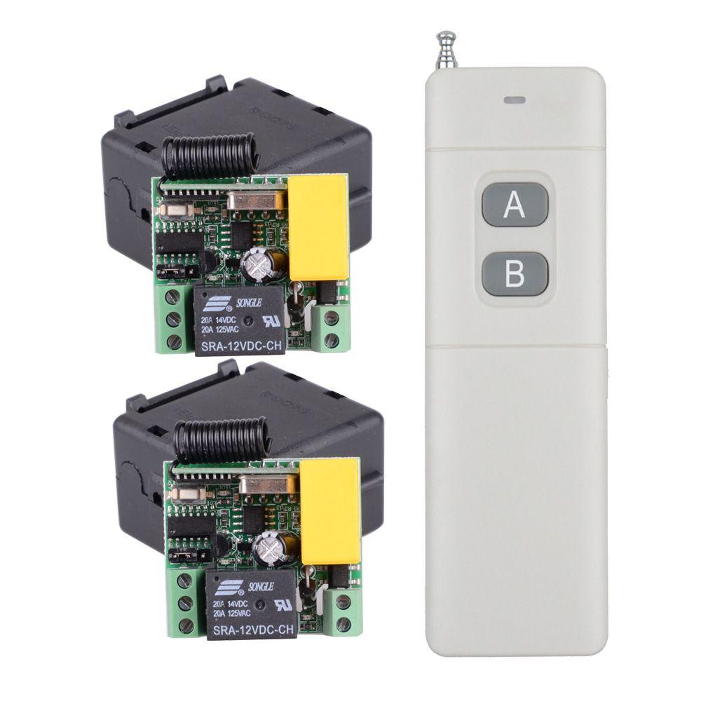 Lange Palette 200-3000 mt Sender + 2CH 220 v 10A Drahtlose Fernbedienung Schalter Lampe Licht LED Fernbedienung mini Licht Schalter System