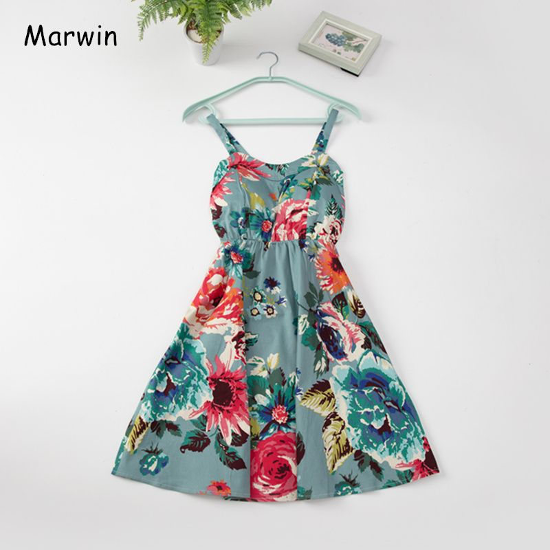 Marwin 2019 New Off shoulder ruffle Dot summer Dress women white strap chiffon beach Boho party sexy dresses vestido furits