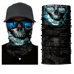 BJMOTO Halloween Scary Mask Festival Skull Masks Skeleton Outdoor Motorcycle Bicycle Multi Masks Scarf Half Face Mask Cap Neck