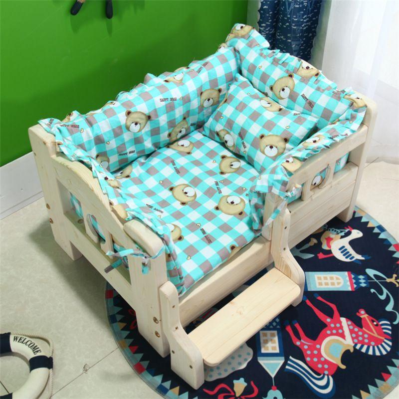 Zwinger Bett Haustier Bett Teddy Golden Retriever Hundehütte Indoor Katze Bett Größe Hundehütte Vier Jahreszeiten Universal Hund Bett Hund Haus