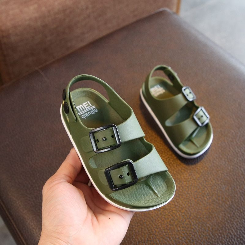 davidyue kids sandals Summer 2019 boys shoes England 1-4 years old baby children's sandals children's non-slip sandals