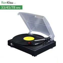 New 3 Speed electric Music Turntable, Vinyl records player with stylus, MP3 converter, gramophone vinil player
