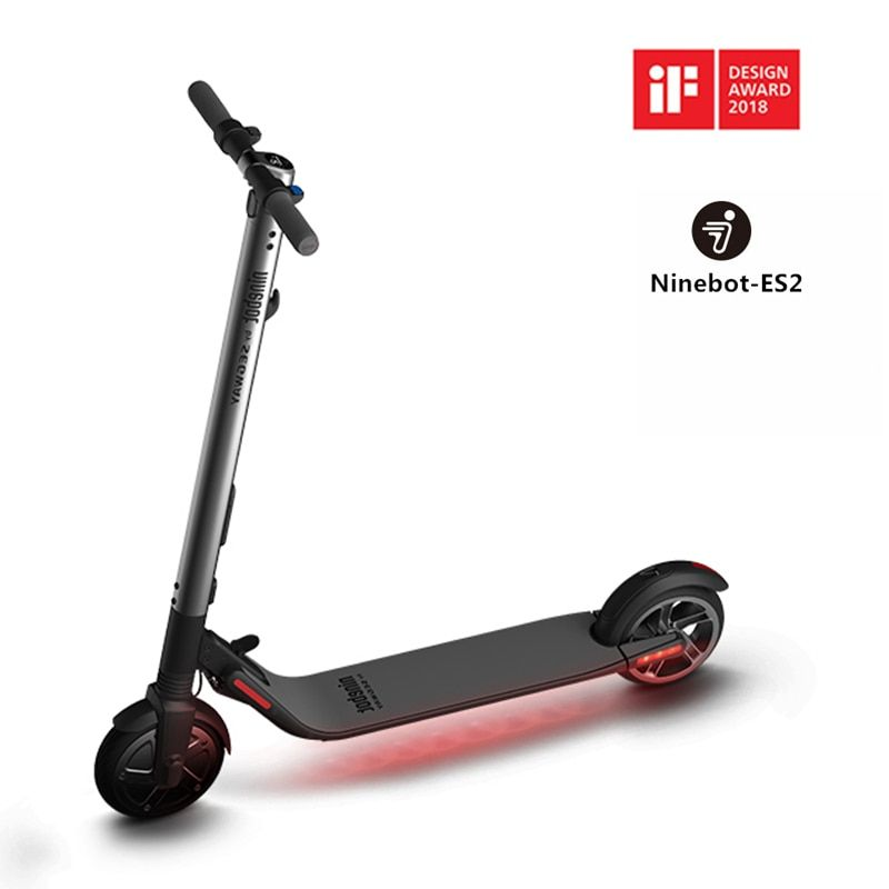 Ninebot KickScooter ES2 Smart Electric Scooter foldable lightweight long board hoverboard skateboard 25km with APP hover board