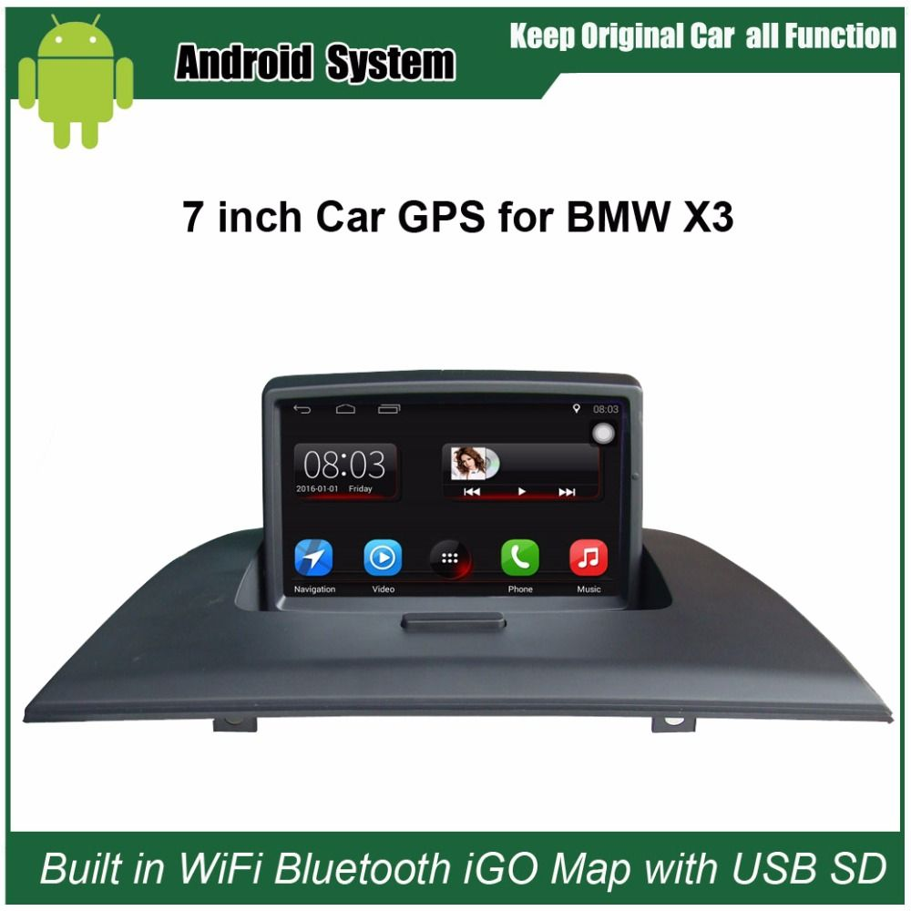 Upgraded Original Car Radio Player Suit to BMW X3 E83 Car Video Player Built in WiFi GPS Navigation Bluetooth with free 16G USB