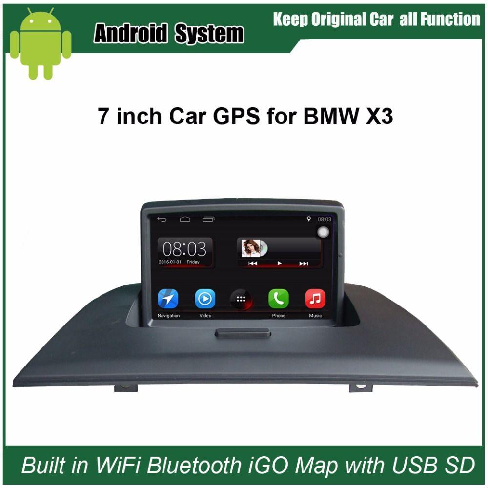 Verbesserte Ursprüngliche Auto Radio Player Anzug BMW X3 E83 Auto Video-Player WiFi gebaut GPS Navigation Bluetooth mit freies 16G USB