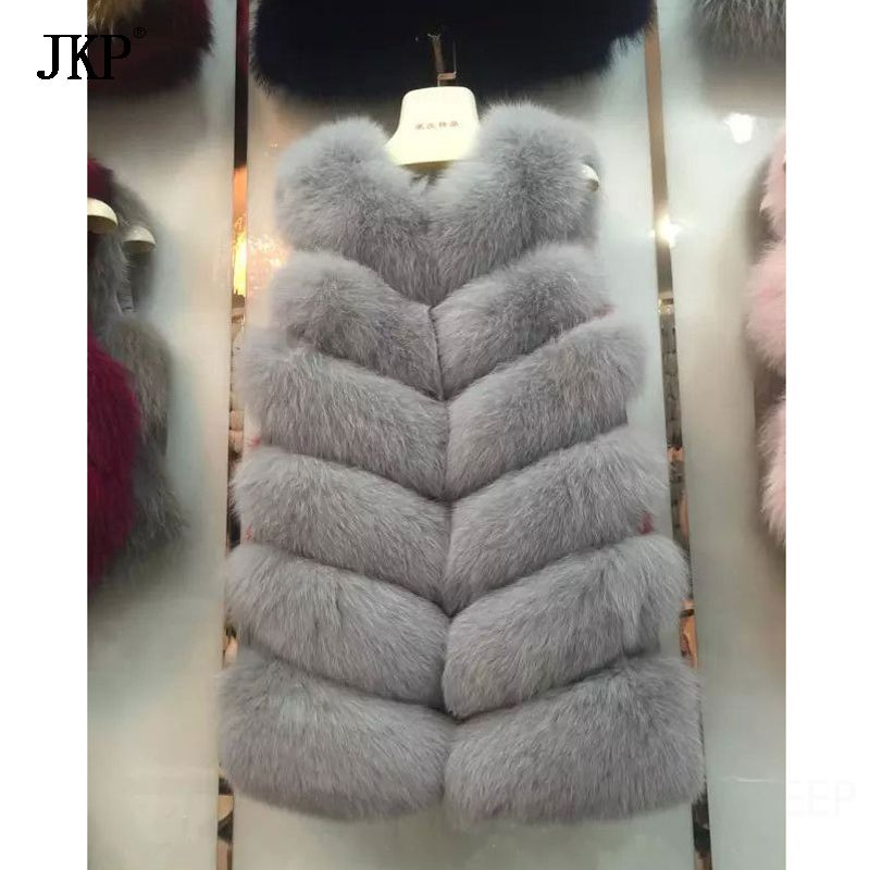 100% Real Fox Fur Vest Top Quality Natural Fox Furs Russian Women Winter Best Gift Fox Fur Vest Coat