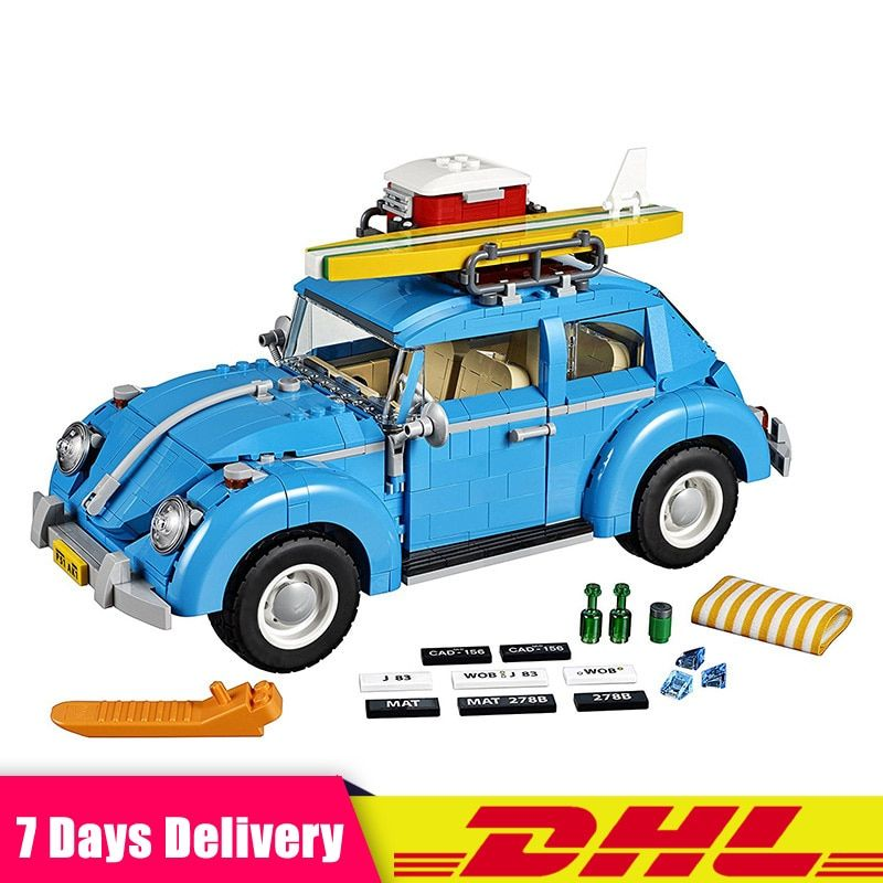 DHL IN Stock LEPIN 21003 1193Pcs Volkswagen Beetle Car Model Building Kits Bricks Christmas Gifts Compatible LegoINGlys 10252