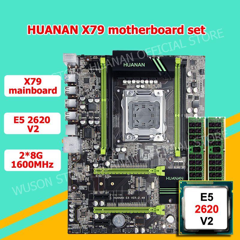 Discount motherboard HUANAN ZHI X79 LGA2011 motherboard CPU RAM combo CPU Xeon E5 2620 V2 2.1GHz RAM 16G(2*8G) 2 years warranty