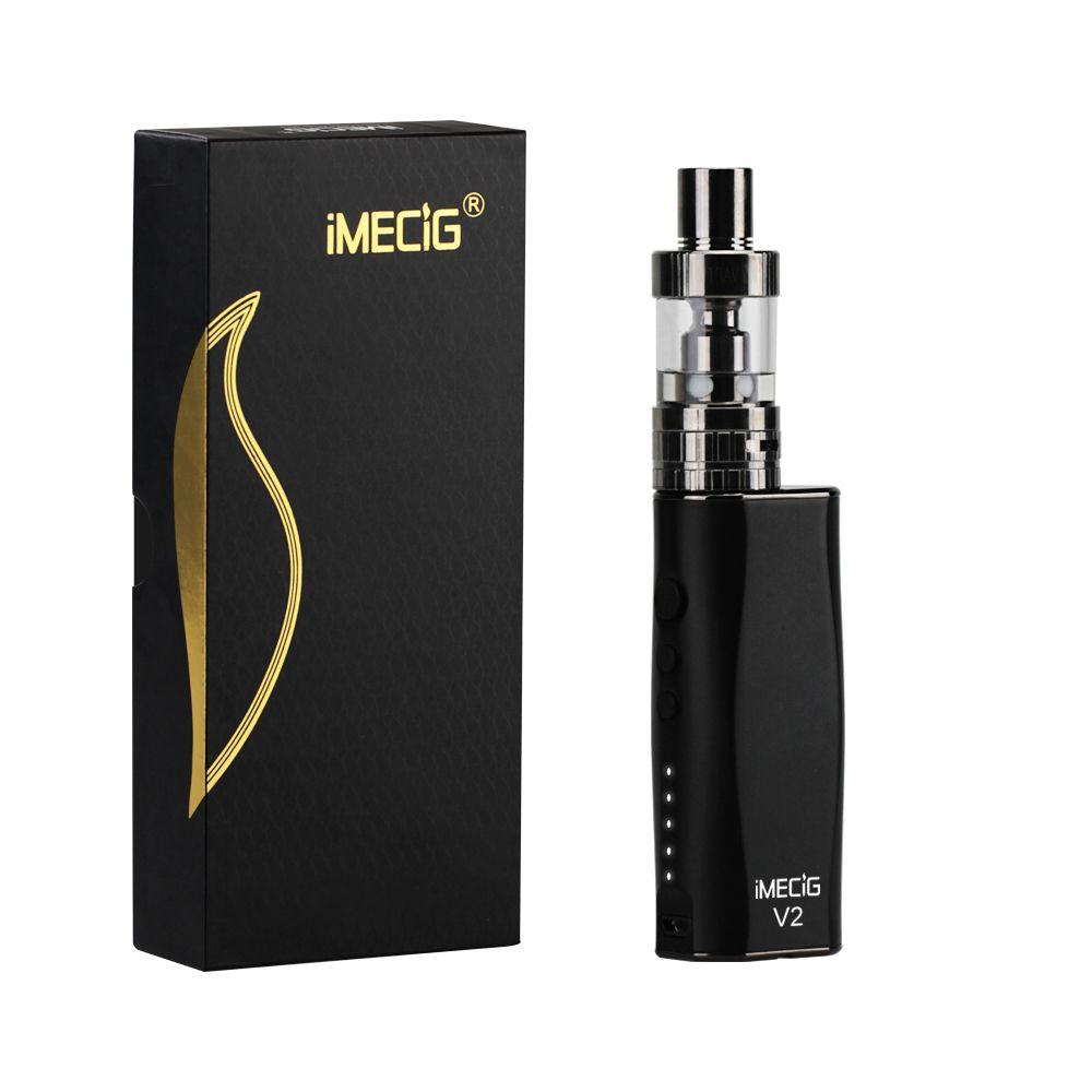 Imecig электронная сигарета 50 Вт Регулируемый VAPE mod kit 2100 мАч поле mod 2.0 мл 510 нить форсунка электронной сигареты