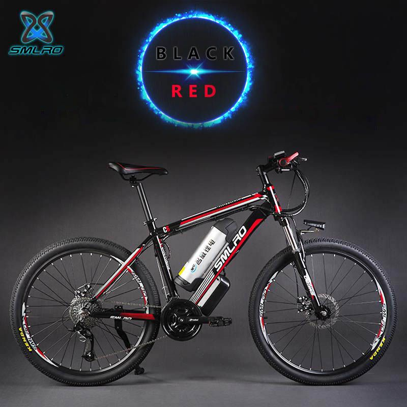 26inch Hydraulic disc brake 27speed electric mountain bike 48V lithium battery smart electric bicycles 500W motor aluminum frame