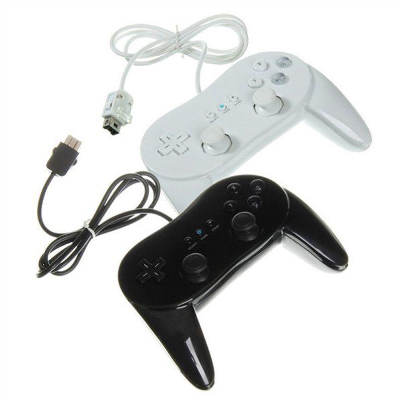 Manette de jeu filaire classique noir et blanc pour manette de jeu Wii manette de jeu à distance Pro manette de jeu pour accessoires Nintendo Wii