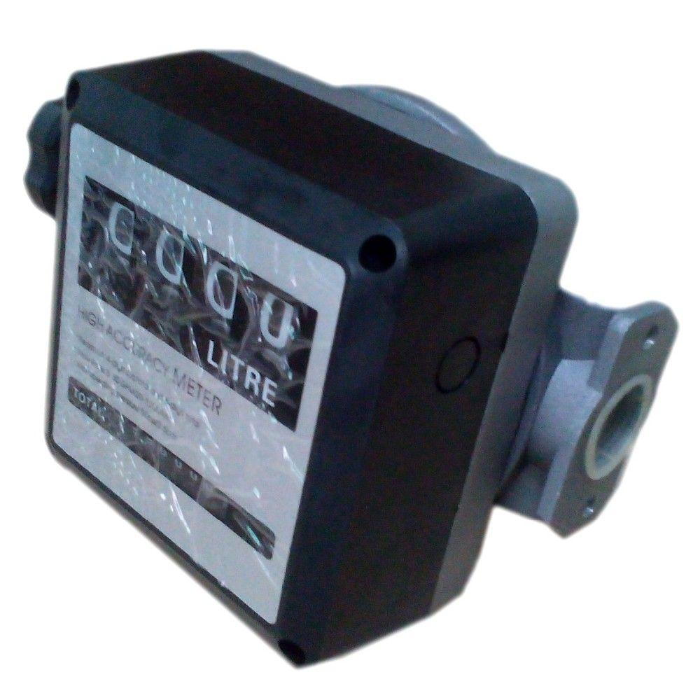 Water Flow Meter sensor flowmeter fuel gauge caudalimetro gasoline diesel Fuel Oil flow indicator counter DN25 4-digit 0-9999L