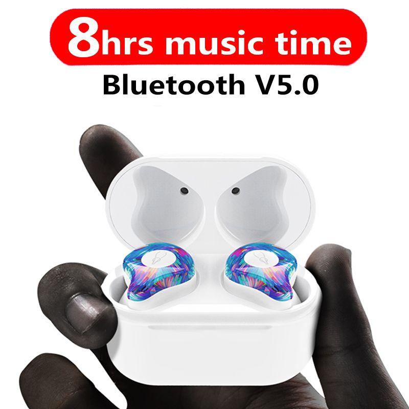 New Mini BLuetooth Earphone <font><b>Port</b></font> Cordless Wireless Earbuds Stereo in ear Bluetooth 5.0 Waterproof Wireless ear buds Earphone
