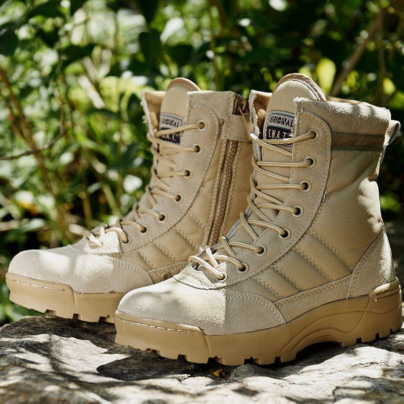 Forces spéciales armée militaire bottes tactique sécurité Sports de plein air Combat désert escalade Trekking baskets chaussures de randonnée hommes