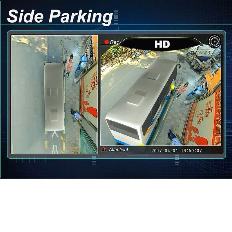 3D HD Surround View Überwachungssystem 360 Grad Fahren Panorama Park Vogelperspektive für Lkw/Bus 4 Metall Kameras 4-KANAL DVR Recorder