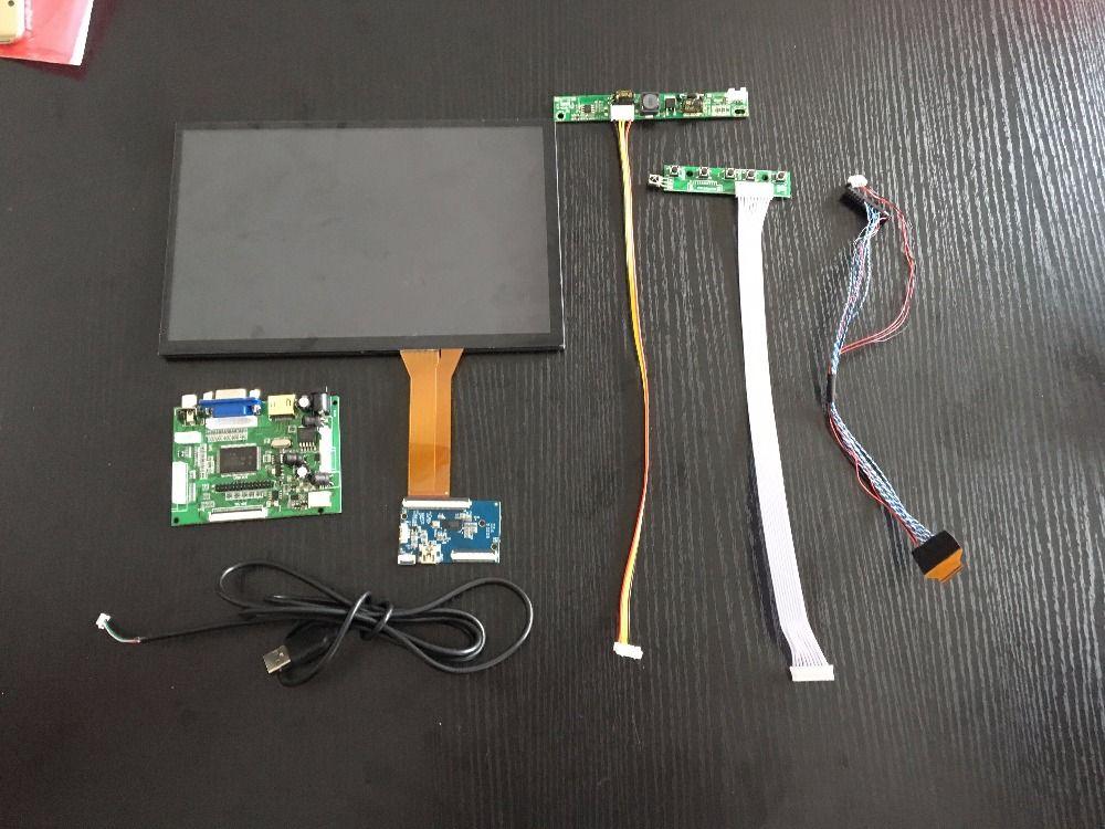 10.1 pouces 1280*800 Écran Tactile capacitif IPS LCD Module D'affichage De Moniteur Support Voiture HDMI USB VGA 2AV Framboise Pi 3 À Distance