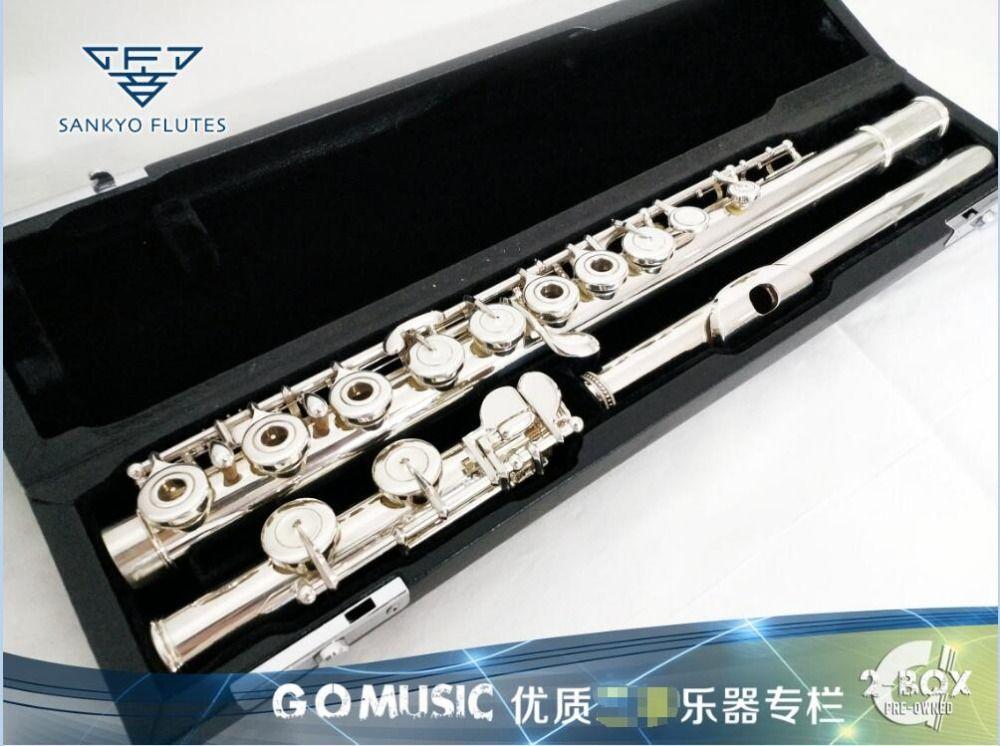 Sankyo CF301 Silversonic FLÖTE In-linie E Schlüssel Split Silber Überzogene Flöte C Tune 16 Löcher Öffnen Französisch Schlüssel flöte