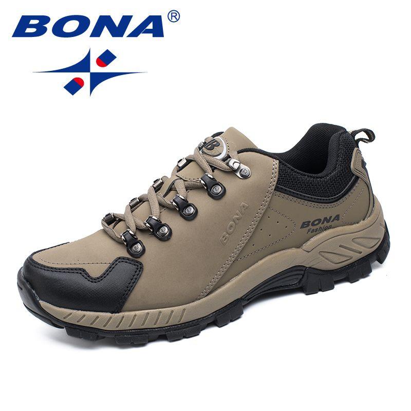 BONA Neue Populäre Art Männer Wanderschuhe Outdoor Jogging Trekking Sneakers Lace Up Sportschuhe Bequeme Schnelles Freies Verschiffen